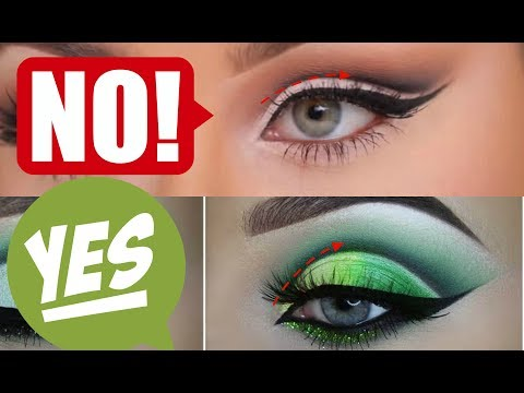 HOW TO- Cut Crease for HOODED & UNEVEN EYES! | Ft- RUDE COSMETICS | Jade Madden