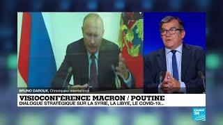 Macron et Poutine parlent de la Libye, l'Iran, la Syrie, et de l'Ukraine en visioconférence