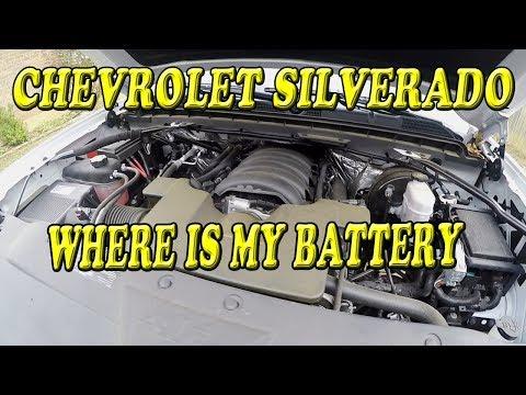 Chevrolet Silverado Where is the Battery