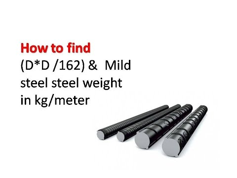 How to find the steel  bar weight in kg/m