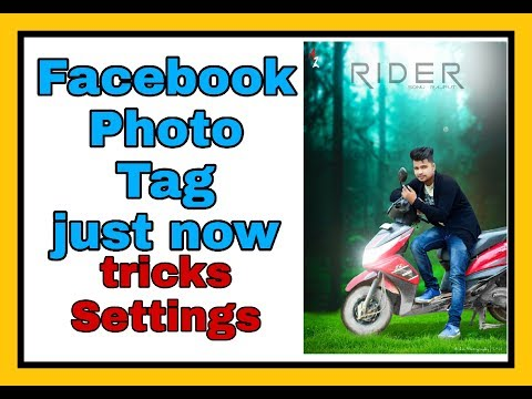 How to Facebook photo tag just second // tagging privacy settings