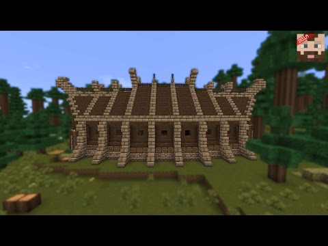 Minecraft Tutorial | Viking Long House -- exterior