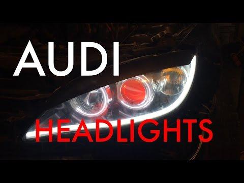 [How-To] Diy~ AUDI/BMW Headlights LED Tube Lights (Mazda 3) [HD]
