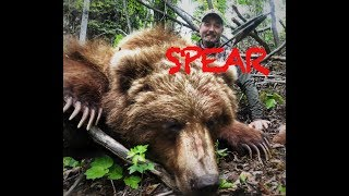 First Grizzly Ever Speared on Video . The throw!!