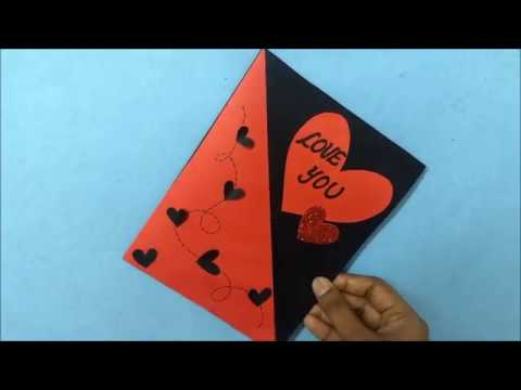 Love You Greeting card for BOYFRIEND  | complete tutorial