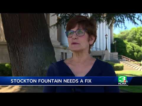Decades-old water fountain in downtown Stockton breaks