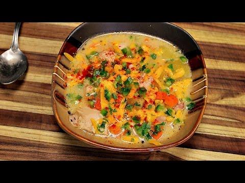 Corn Chowder Recipe - how to make chicken and corn soup - corn chowder - sweet corn recipes
