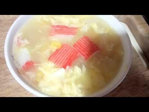 Fish maw sweets corn soup