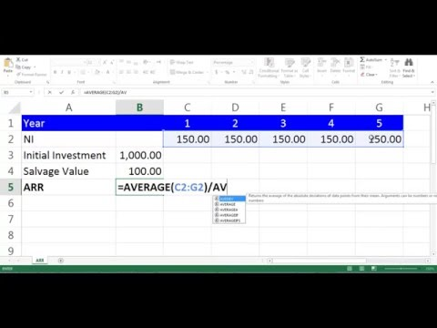 ARR Calculation using Excel