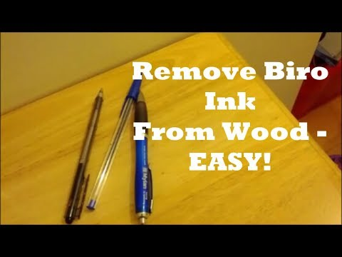 How To Remove Pen Ink Marks From Wood - EASY METHOD!