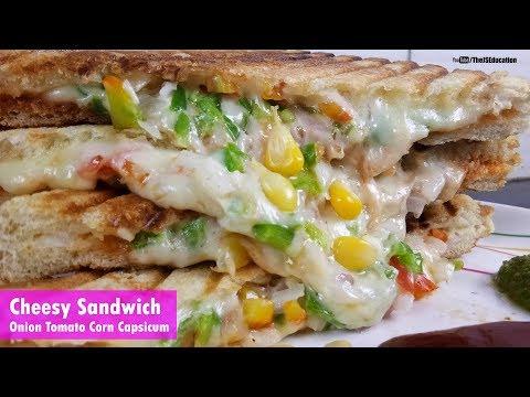 How to make Cheesy Sandwich at Home | Onion Tomato Corn Capsicum