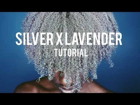 HOW TO: BLONDE TO SILVER LAVENDER HAIR TUTORIAL (DYE, RINSE, NATURAL)