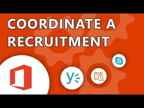 Coordinate a recruitment