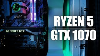 Building and Benchmarking a Ryzen 5 1500X + GTX 1070 PC!
