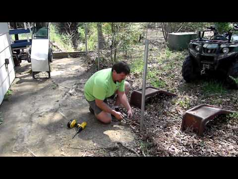 How to pull old fence post.