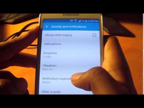 How to turn the Samsung Galaxy Sound or Vibration ON or OFF