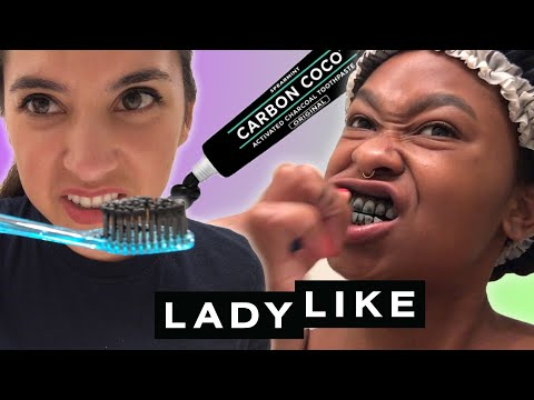 We Tried Facebook-Famous Charcoal Teeth Whitening • Ladylike
