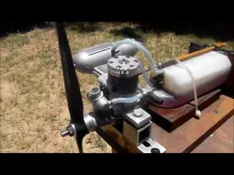Magnum 46XL BB ABC RC MODEL AIRCRAFT ENGINE RUNNING!