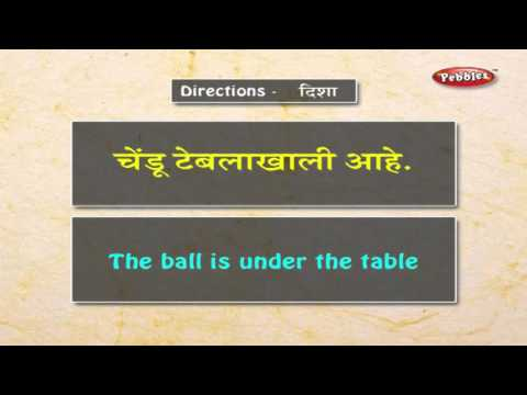 Learn Directions in Marathi | Learn Marathi Through English | Learn Marathi Grammar For Beginners
