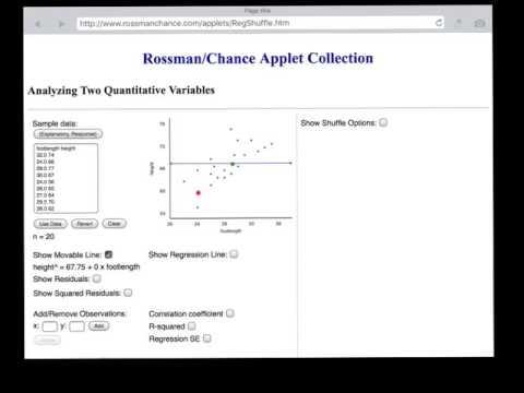 AP Statistics:  how to interpret r-squared
