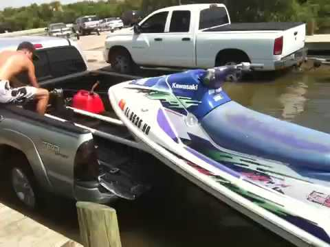 Launching JetSki from Truck Bed