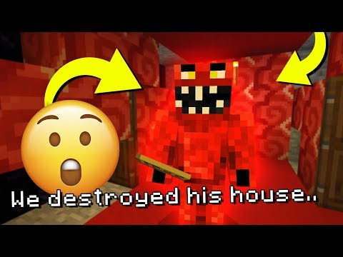 Destroying Evil Elmo's home in Minecraft! (THIS MIGHT BE BAD)