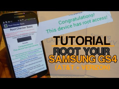 Tutorial - Root Your Galaxy S4 [AT&T + Verizon][VRUAME7/MF3 supported]