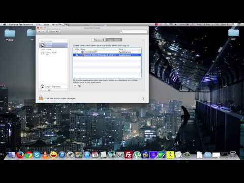 How to remove Startup Programs in OS X / MAC