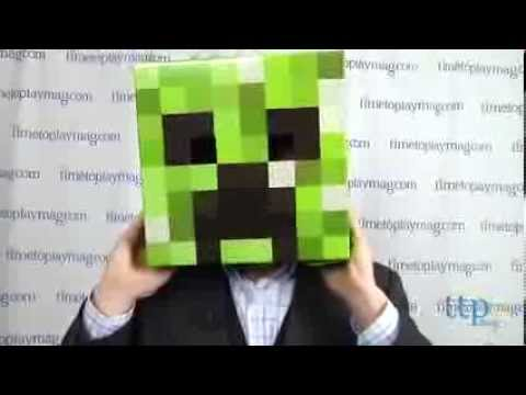 Minecraft Creeper Cardboard Head from Spin Master