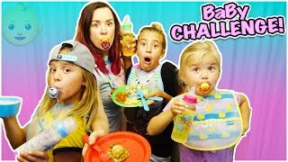 CAN WE MAKE A GOURMET MEAL USING ONLY BABY FOOD?! GROSS CHALLENGE!