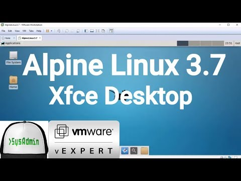 How to Install Alpine Linux 3.7 + XFCE Desktop + VMware Tools + Review on VMware Workstation [2018]