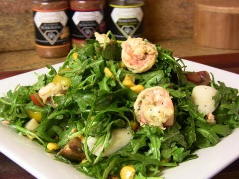 Shrimp & Arugula Salad w/ Fresh Lemon Vinaigrette |Cooking With Carolyn
