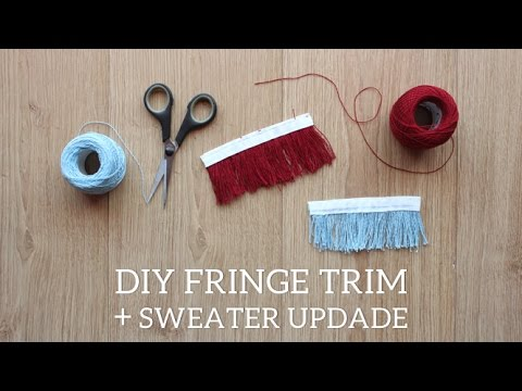 DIY Fringe Trim // Sweater update