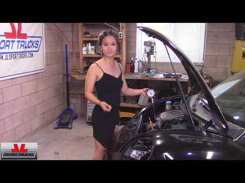 Beautiful Jade shows how to check the Compression on an Engine