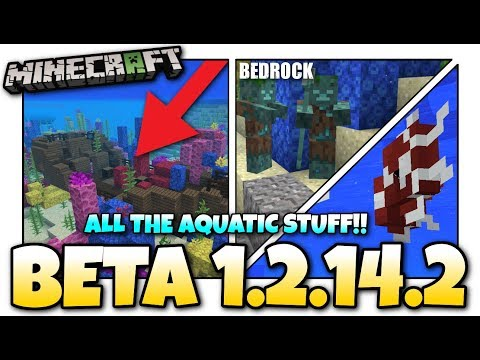 Minecraft - 1.13 BETA OUT NOW ! More Update Aquatic / Change Log - MCPE / Xbox / Bedrock