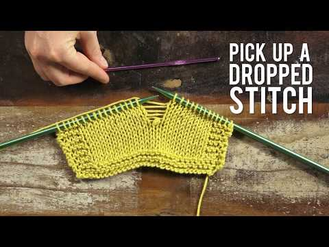 How To Pick Up a Dropped Stitch in Stockinette | Interweave Yarn Hacks