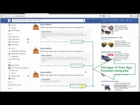 How to get Time Ago like Facebook in PHP