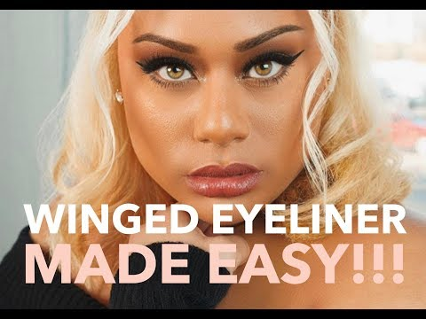 How To: Winged Eyeliner and Lash Application Made Easy!!!