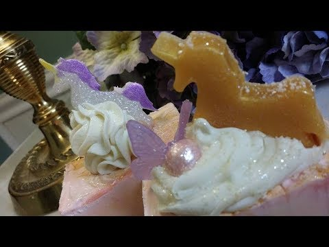 Unicorn Soap! Making Cold Process Unicorn Novelty Soaps