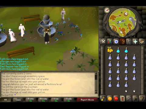 How to make Attack Potion in Runescape 2007