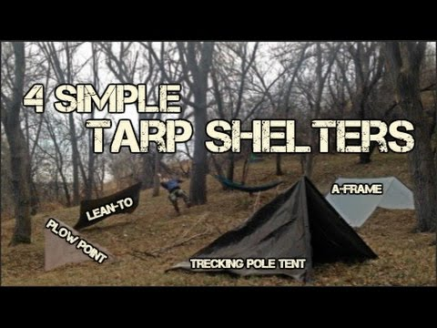 How to: 4 Simple Tarp Shelters