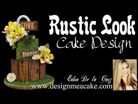 Rustic Look Cake Design