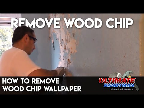 How to remove wood chip wallpaper