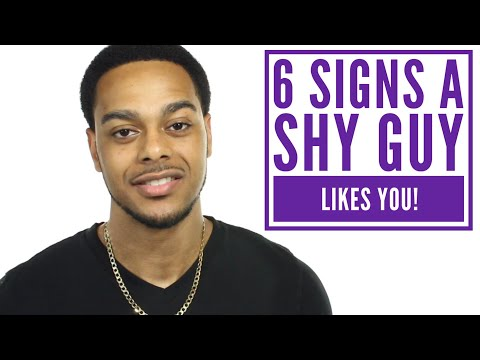 How to tell if a shy guy likes you | 6 signs he likes you!
