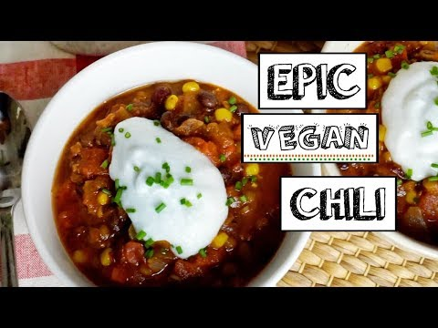 THE BEST VEGAN CHILI RECIPE (so easy!)