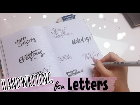 8 TYPE of HANDWRITING for XMAS LETTERS 💌🎄