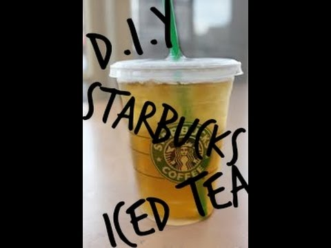 DIY Starbucks Mango Iced Tea! -Super Easy-