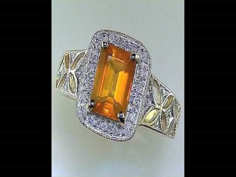 Certified Jewelry Brazillian Fire Opal and Diamond Ring Being Auctioned on eBay $1 Desperate Seller