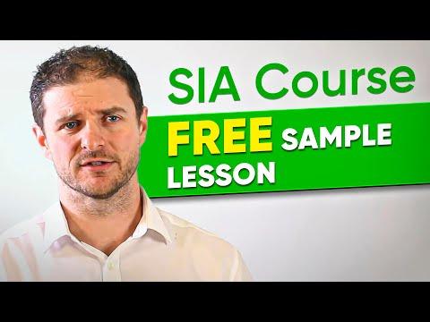 SIA Course free sample lesson.