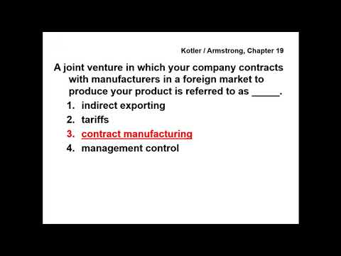 Principles of Marketing - QUESTIONS & ANSWERS -  Chapter 19